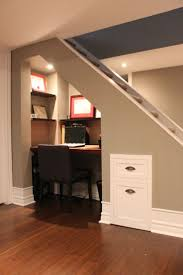 Basement Office Design Ideas Rustic Closet Office Under Stairs Roselawnlutheran