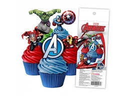 captain america cake topper party supplies sweet pea