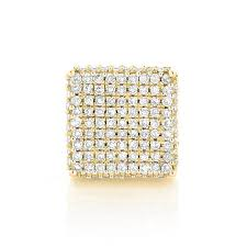 mens diamond stud earrings single 10k gold square men s diamond stud earring 0 6ct pave
