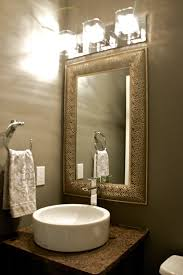 Modern Powder Room Powder Room Mirror Ouida Us