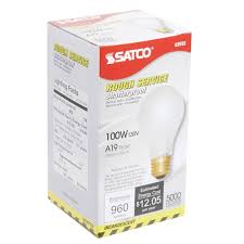 satco s3932 100 watt frosted shatterproof finish incandescent