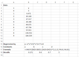 does excel have a function similar to linest that fits a