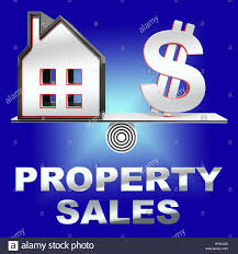 House Meaning by Property Sales House Meaning House Selling 3d Rendering Stock