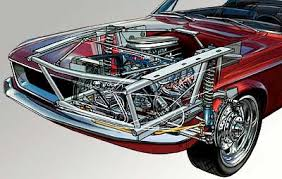 67 mustang suspension automotive technical illustration cut a way expolded views