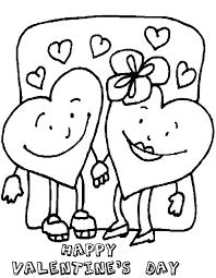 printable valentines day2 heart coloring coloringpagebook