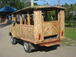 philippines taxi image toti bamboo eco2 8 passenger taxi in tabontabon