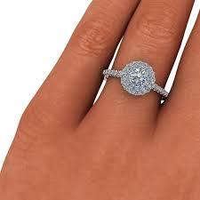 circle engagement ring angel halo brilliant engagement ring â ct