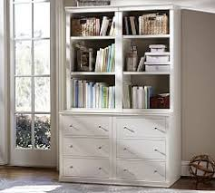 Antique White Bookcases Bookshelves U0026 Cabinet Furniture Pottery Barn