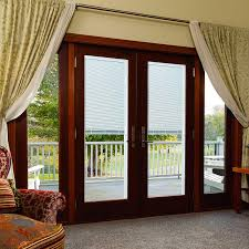 Single Patio Doors With Built In Blinds Odl Enclosed Blinds Built In Door Window Treatments For Entry Doors