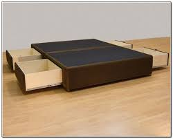 Beds With Drawers Queen Platform Bed With Drawers Platform Beds With Drawers In