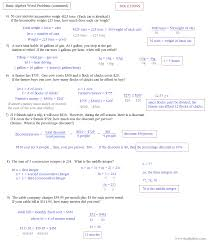 Quadratic Word Problems Worksheet With Answers Algebra 1 Linear Equations Word Problems Jennarocca