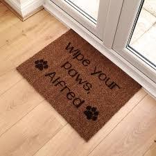 Wipe Your Paws Footprint Doormat Personalised Pet Name Doormat By Laser Made Designs