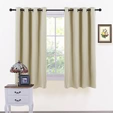 Short Drop Ready Made Curtains Short Curtains For Bedroom Amazon Co Uk
