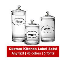 kitchen canister labels custom kitchen canister label set choose text font color