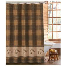 Lodge Shower Curtains Plaid Lodge Shower Curtains Ebay