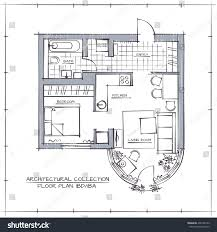 drawing floor plans by hand architectural hand drawn vector floor plan stock vector 496746190