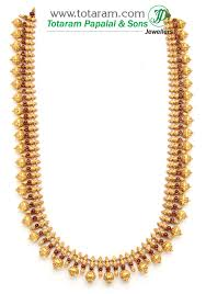 long chain necklace designs images 22k gold double side design long necklace temple jewellery 235 jpg