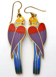 laurel burch earrings laurel burch cezanne parrot enamel bird earrings vintage the