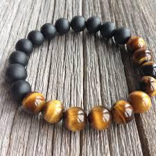 black onyx beads bracelet images New design jewlery 10mm tiger eye and matte black onyx men s jpeg