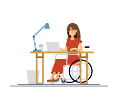 under the table jobs for disabled disabled young woman in wheelchair working with computer online job