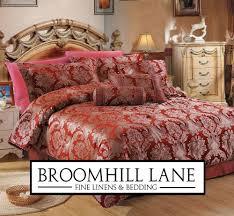brand new deep wine red luxury shimmering gold bedspread duvet