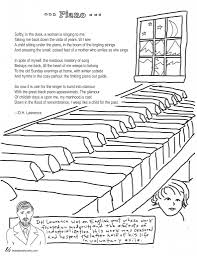 coloring page poems piano by d h lawrence