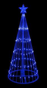 led christmas tree lights 6 blue led light show cone christmas tree lighted