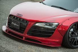 Audi R8 Red - liberty walk dresses up first gen audi r8