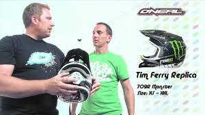 monster motocross gear o u0027neal tim ferry 709r monster energy helmet ghostbikes com youtube