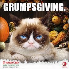 Thanksgiving Cat Meme - un happy thanksgiving this saturday grumpy cat s worst christmas