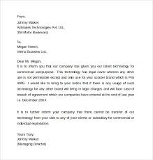 legal letter template 8 samples examples u0026 formats
