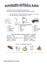 indefinite articles teaching 1st grade pinterest
