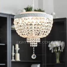 Pendant Light Drum Shade Drum Shade Crystal 4 Light Multi Pendant Light Wrought Iron
