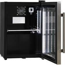 mini bar fridge glass door shallow depth mini bar fridge schmick brand with triple glazing