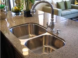 Undermount Granite Kitchen Sink Stainless Steel Drop In Sink Square Design Granite Countertop
