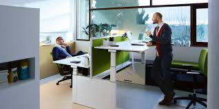 Stand Up Sit Down Desk by Desk Mounted U0026 Free Standing Screen Sedus