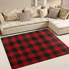 Plaid Area Rug Alaza Black Plaid Area Rug For Living