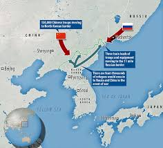 russia map border countries putin sends troops to russia s border with korea daily