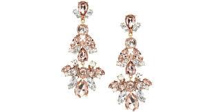 aldo earrings lyst aldo aewet embellished drop earrings in orange