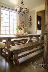 Rustic Dining Room Table With Bench Diy 40 Bench For The Dining Table Shanty 2 Chic Stylish Intended