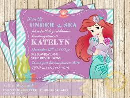ariel invitation little mermaid birthday party under the sea