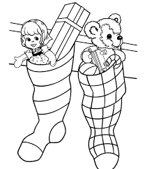 stocking christmas coloring pages christmas coloring pages for