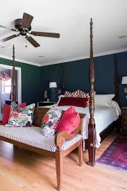 before and after a master bedroom gets a sophisticated colorful