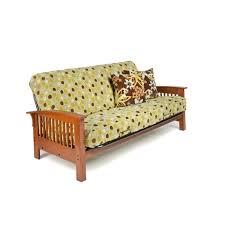 wood metal futon frame