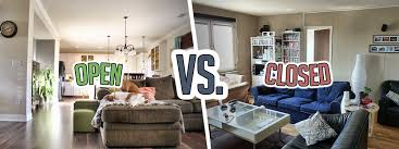 open floor plan living room open floor plans vs closed floor plans budget dumpster