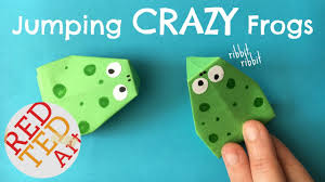 easy action origami frog that jumps easy paper toys crafts how