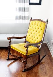 Padding For Rocking Chair Furniture Dark Lacquered Pine Rocking Chair Which Decorated With