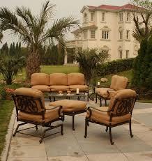 Umbrella Side Table Chateau By Hanamint Luxury Cast Aluminum Patio Furniture 30