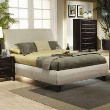 furniture white california king size leather frame with