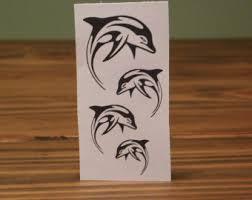 dolphin tattoo etsy